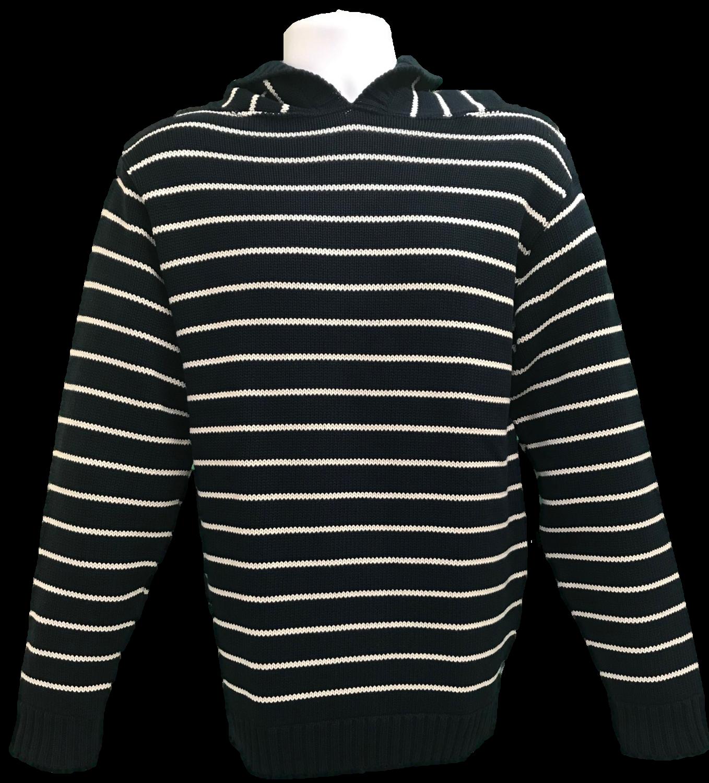 Navy Striped Hoodie