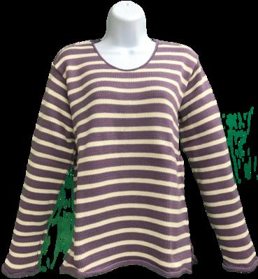Purple/Natural Striped Vee