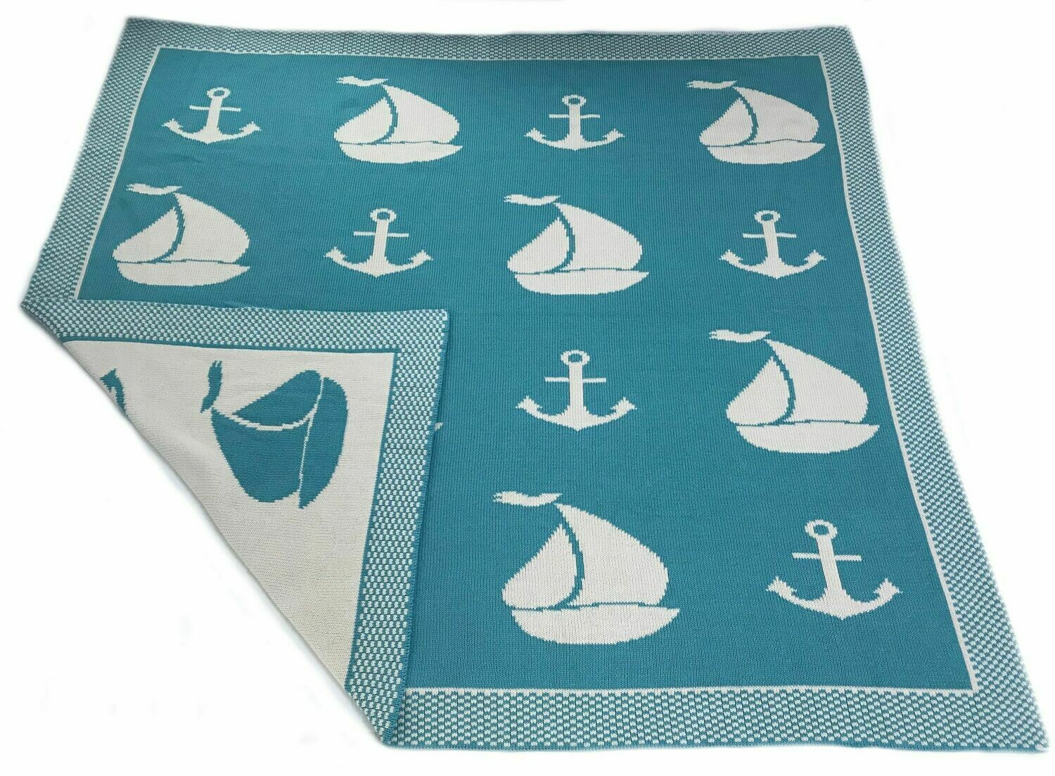 Sailboat Double-Sided Throw