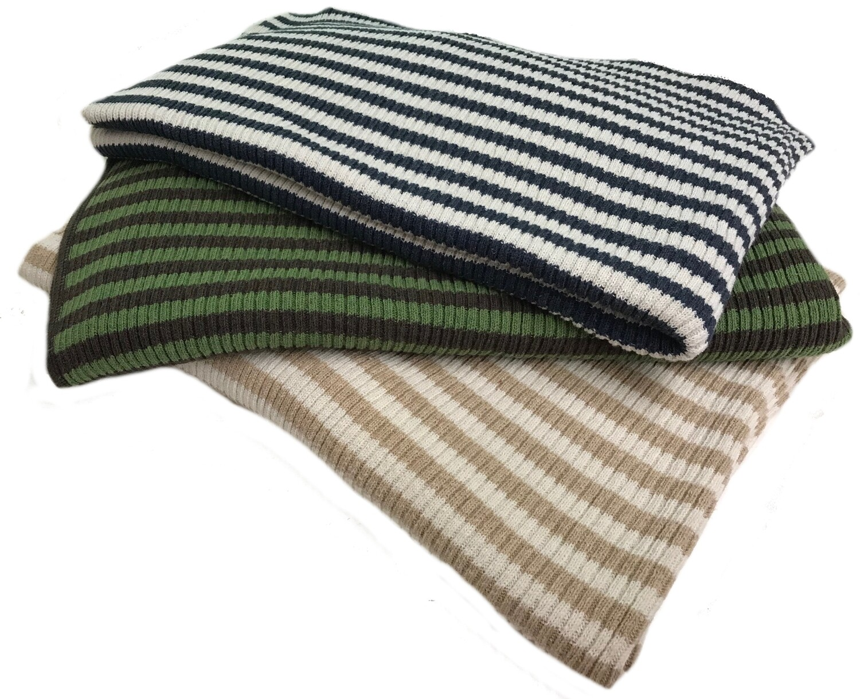Striped Eco-Cotton Blanket
