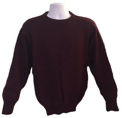 Maroon Wool Crewneck Sweater