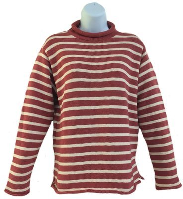 Nautical Red Striped Rollneck