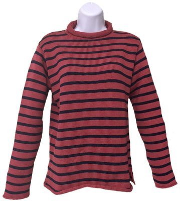 Nautical Red/Navy Rollneck
