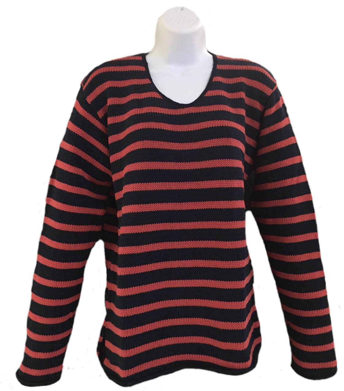 Navy/Nautical Red Striped Vee