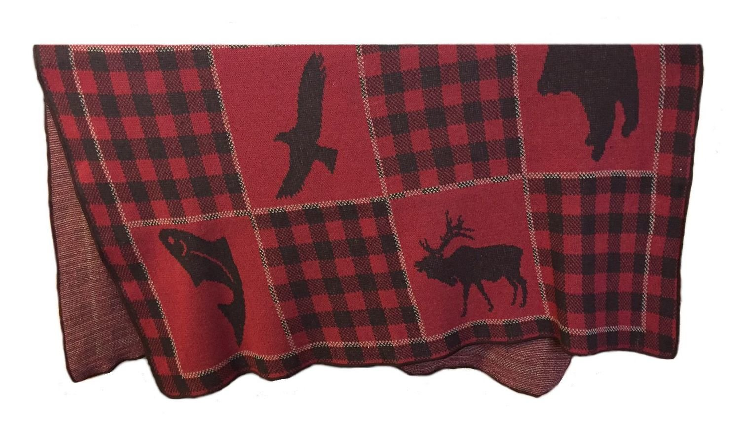 Red Buffalo Patchwork Throw