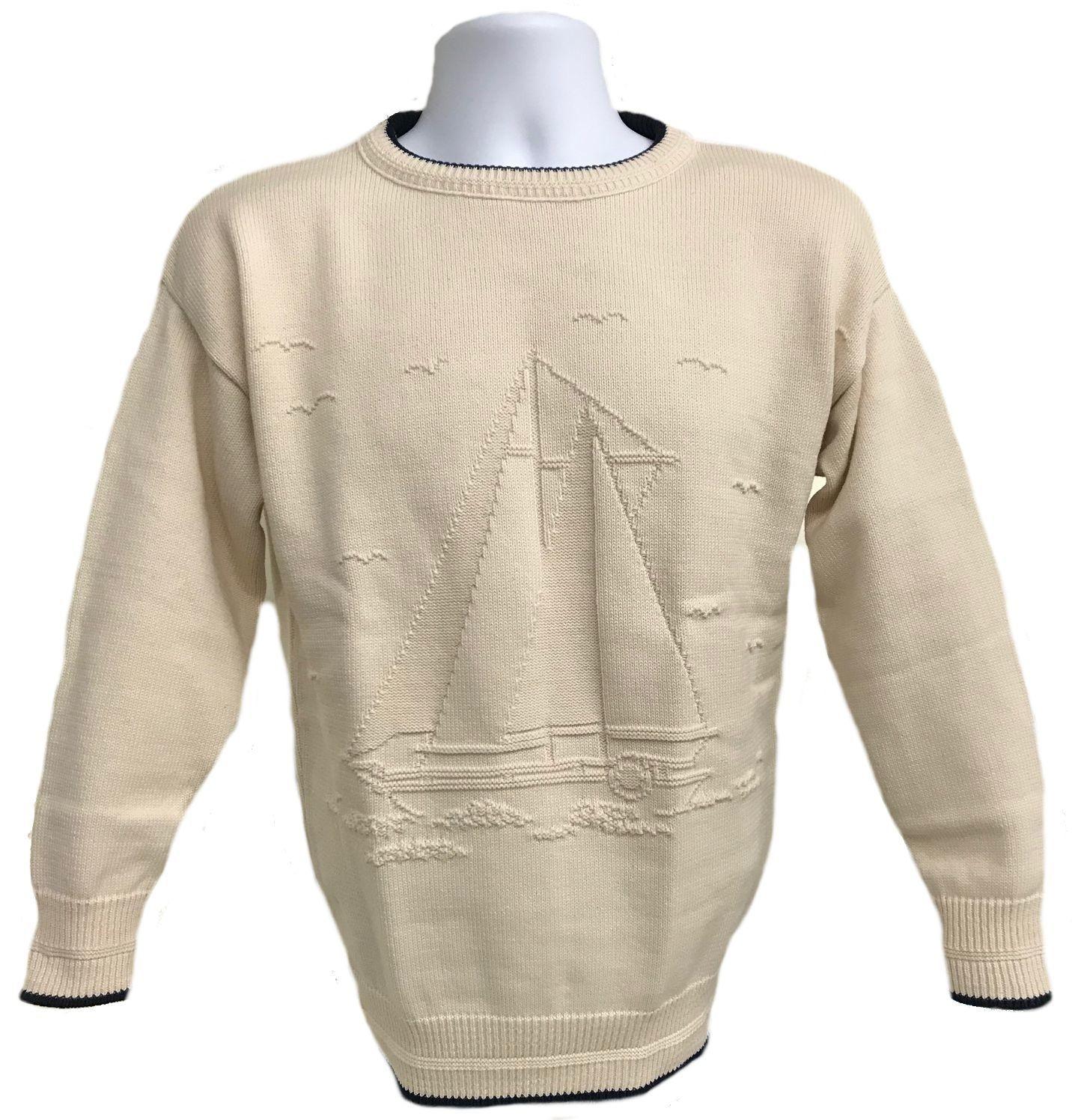 Natural Sailboat Pullover