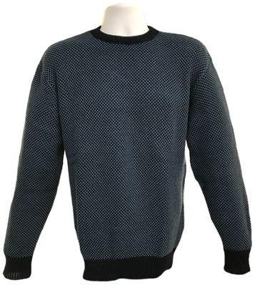 Birdseye Pullover- Navy/Denim