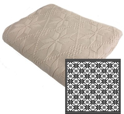 Aspen Cotton Pattern Throw