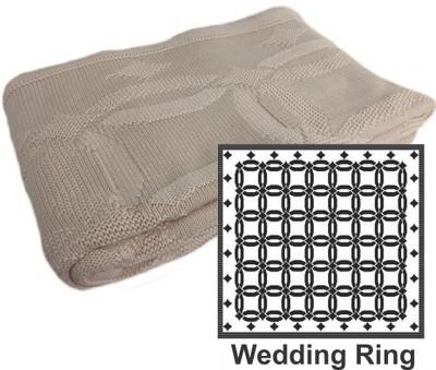 Wedding Ring Cotton Pattern Throw