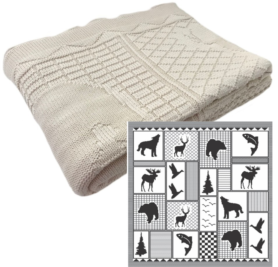North Woods Cotton Pattern Throw