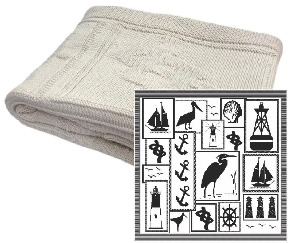 Nautical Cotton Pattern Throw