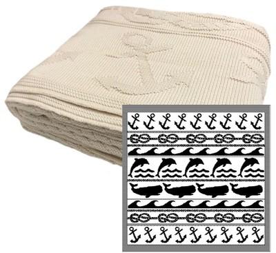 Ocean Stripe Cotton Throw