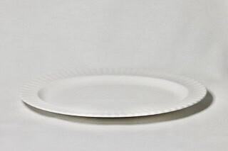 """Whiteware Oval Platter 16"""" fluted"""