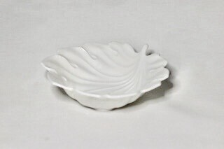 Whiteware Leaf Dish 5""