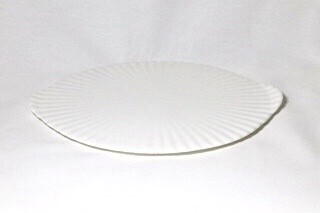 "Whiteware Flat Round Platter 13"" (fluted)"