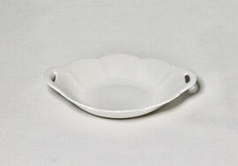 "Whiteware Eared Dish 7"""