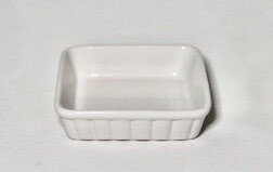 "Whiteware Pie Dish 6"" x 6"""