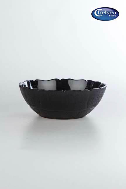 Black Acrylic Salad Bowl