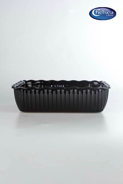 Black Acrylic Oblong Dish