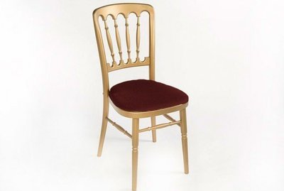 Gold Spindle Back Banquet Chair