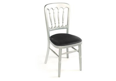 Silver Spindle Back Chair