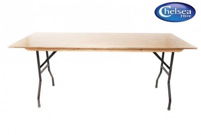"""6' (183cm) x 2' 6"""" (80cm)Trestle Table"""