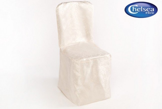 Ivory Chair Covers Shimmer Material