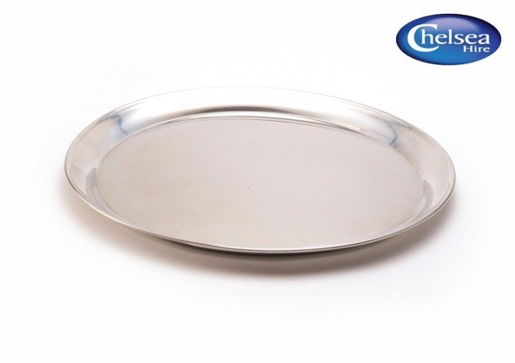 """12"""" (30cm) Round Tray Stainless Steel"""
