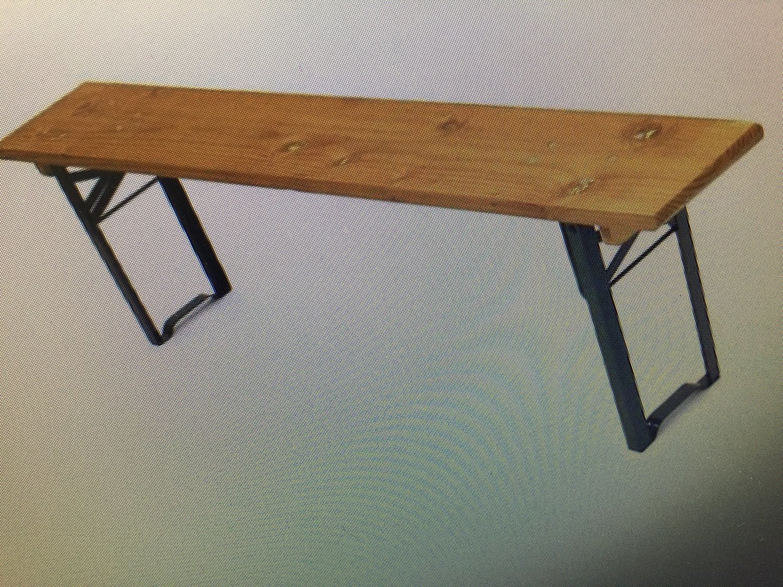 Bench (1.7m Long folding Legs)