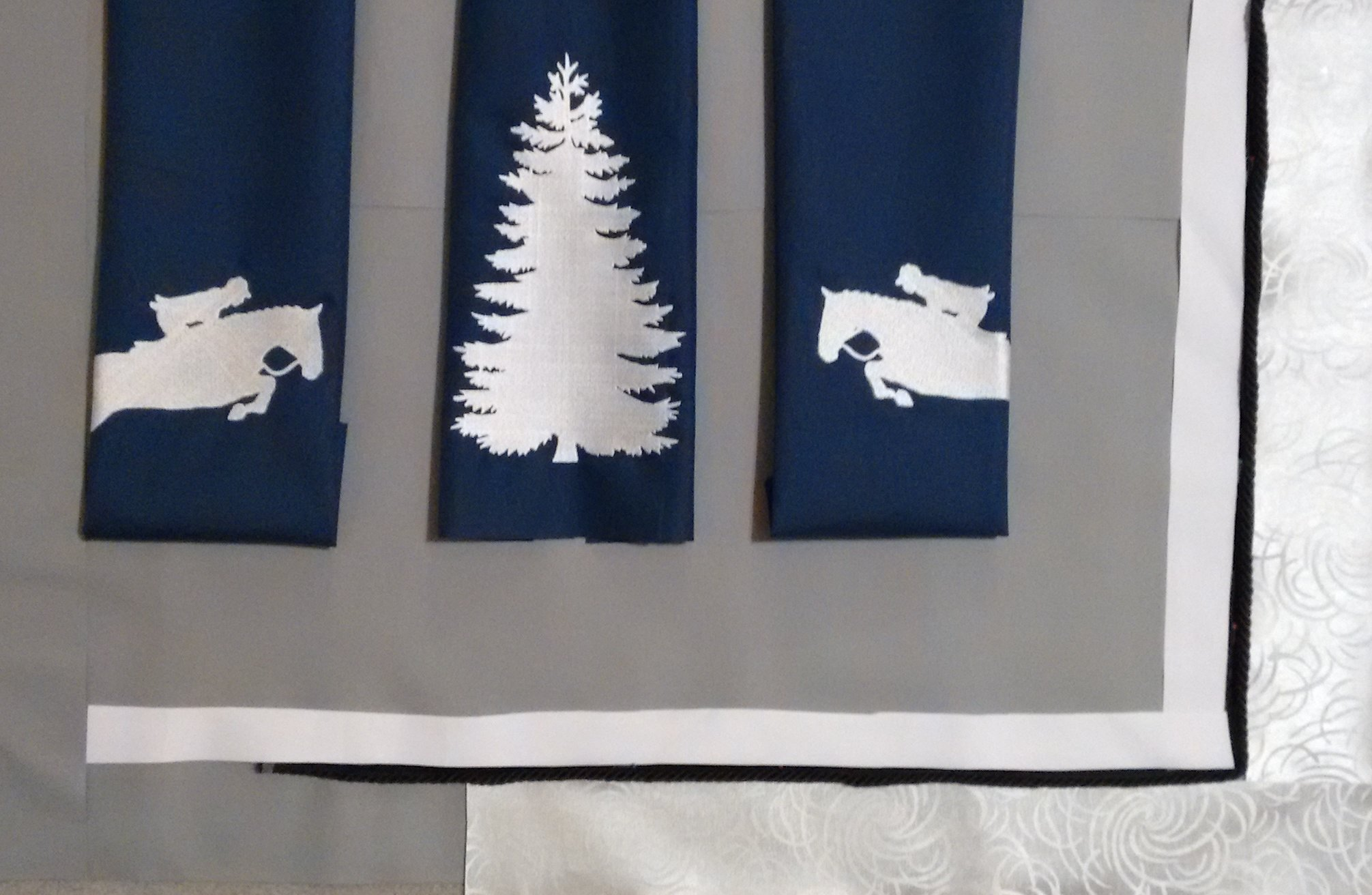 Barn Banner Nylon Picture Style Sea Horse Stall Drapes