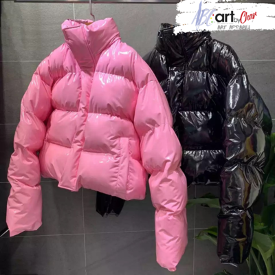 ART APPAREL x CROPPED PUFFER COAT