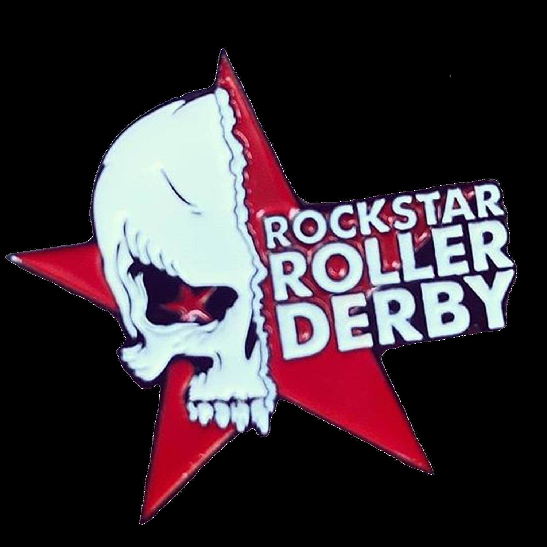 Rockstar Roller Derby Enamel Pin
