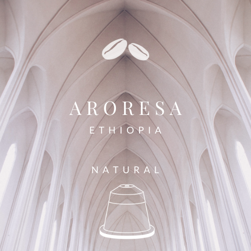 NEW! Ethiopia Aroresa Natural (20 Nespresso® Biodegradable & Compostable Capsules)