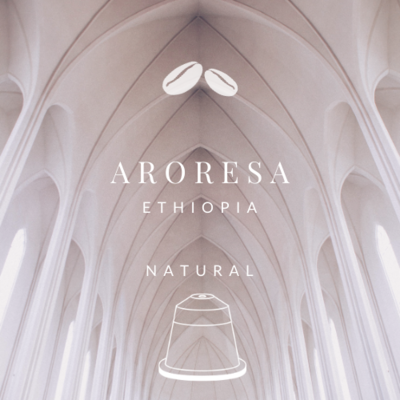 NEW! Ethiopia Aroresa Natural (20 Nespresso® Biodegradable & Compostable Capsules)