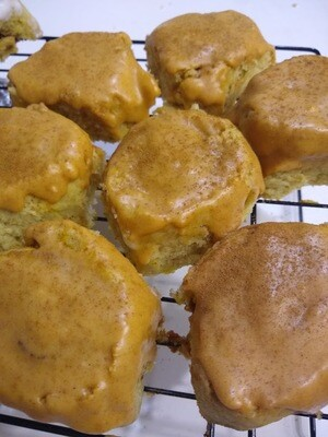 Seasonal Cinnamon Buns -- Pumpkin Spice or Apple Butter [GF + V]