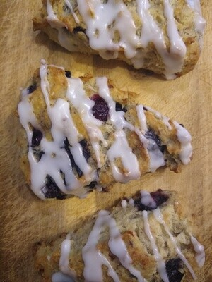 Lemon Blueberry Scones [ GF + V ]