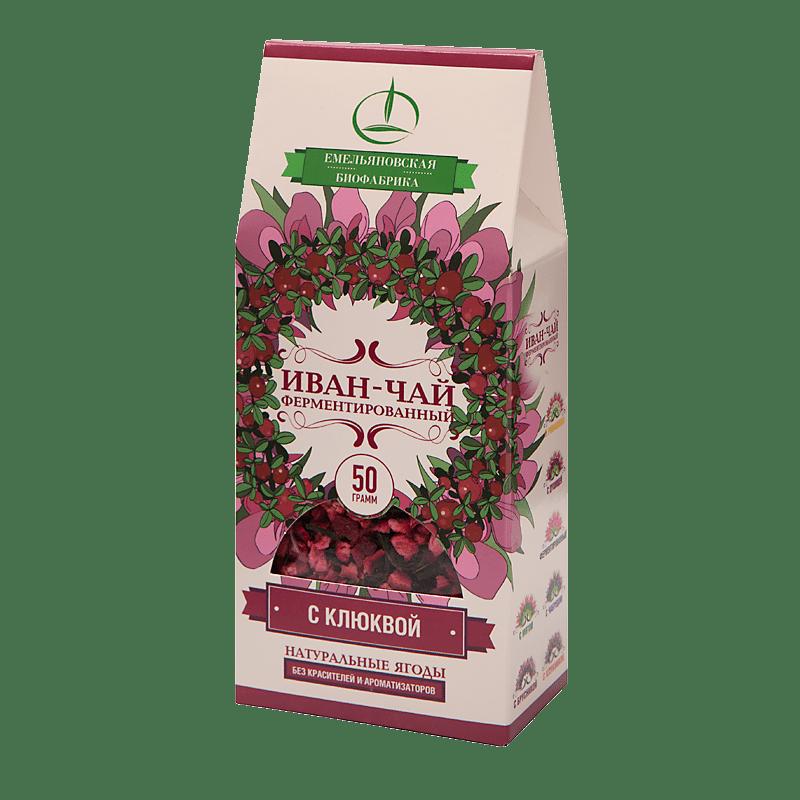 Иван-чай ферментированный с клюквой 50 гр