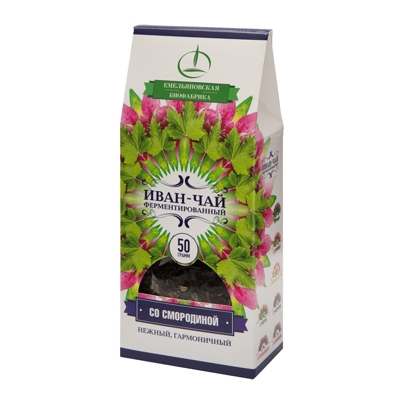 Иван-чай ферментированный с листьями смородины 50 гр