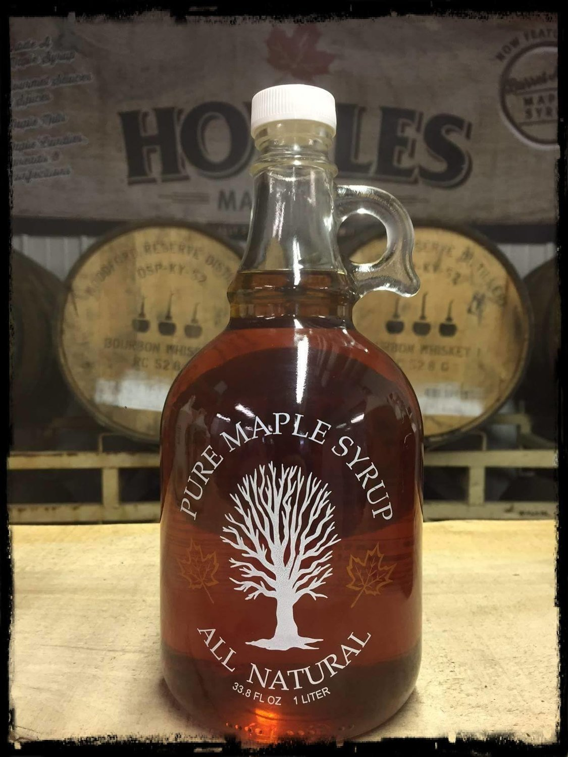 Glass Liter Maple Syrup