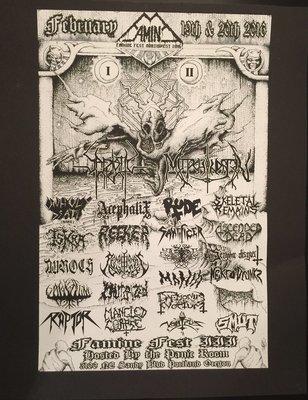 Famine Fest 2016- Band Poster