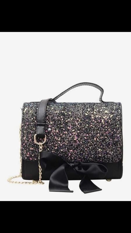 Glitter Chain Bag