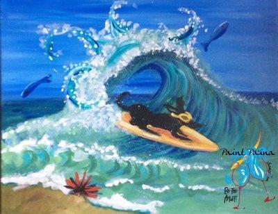 Original painting – Surf Dog