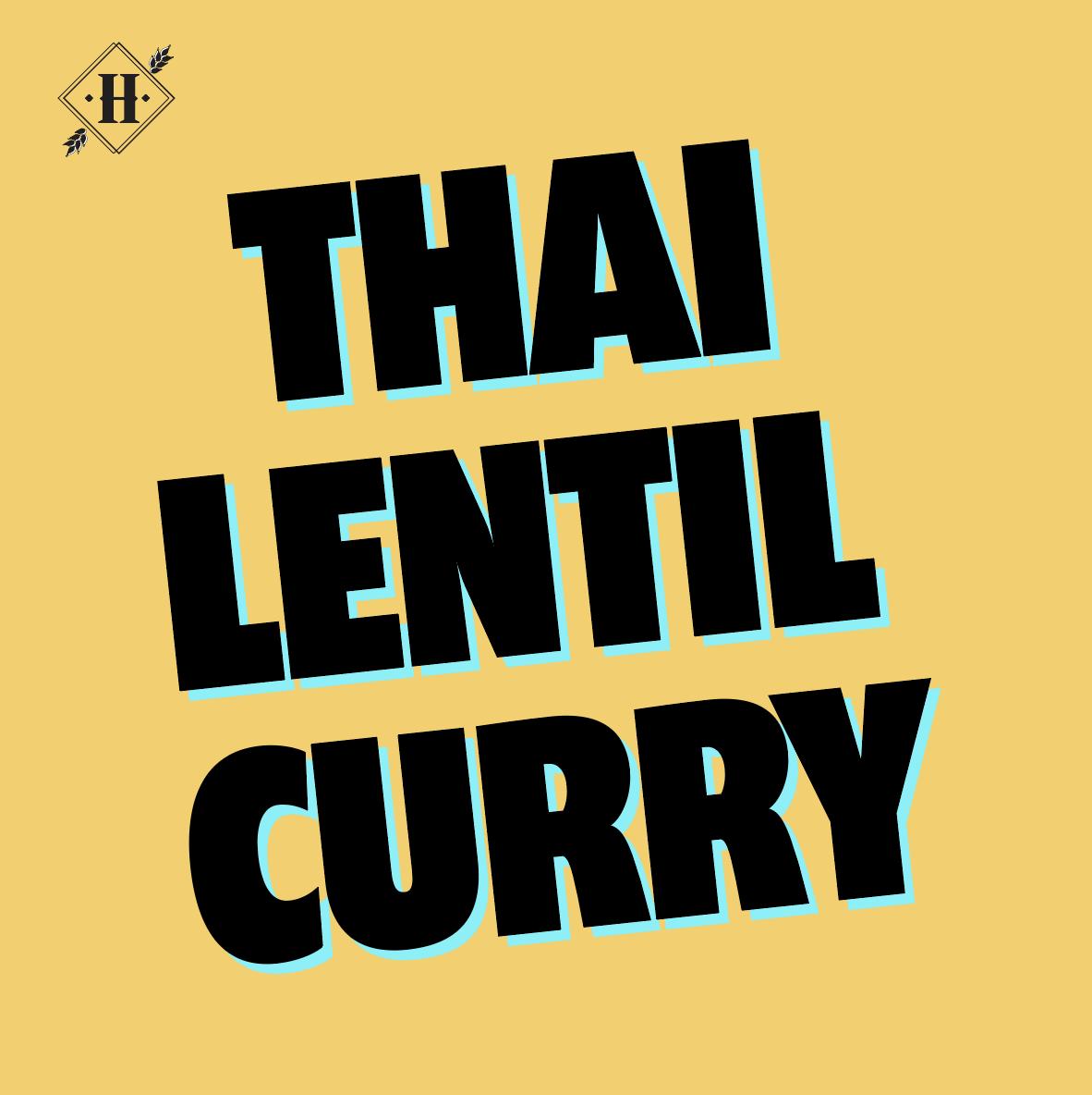 Thai Lentil Curry (For 2)