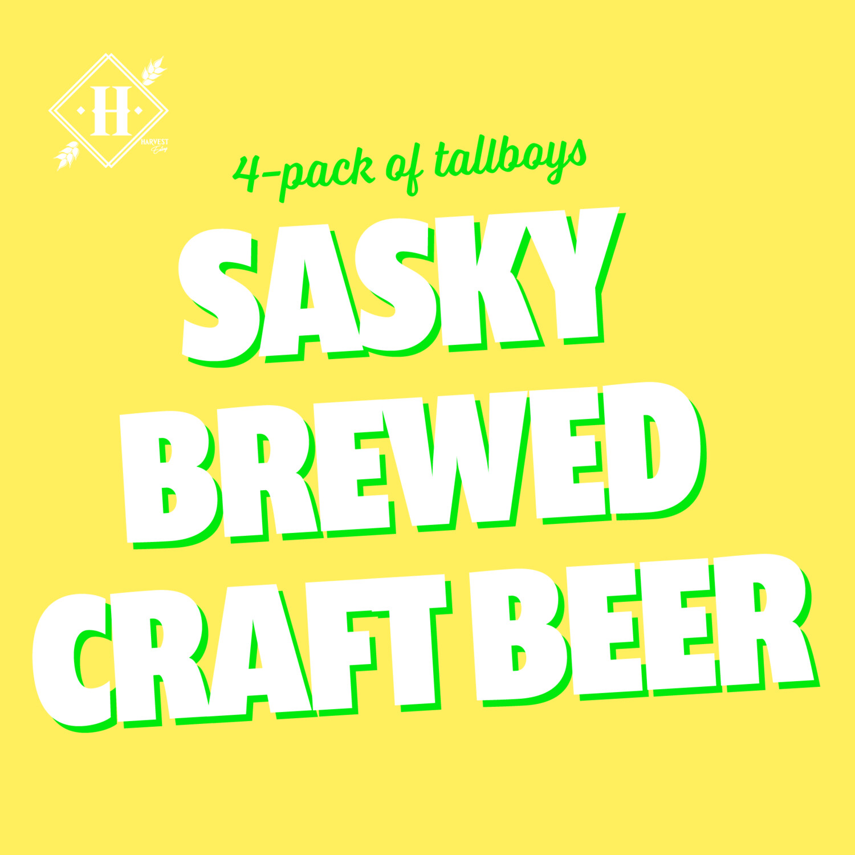 Sasky Craft Brew Tall Boy 4-pack
