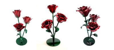 Triple Rose Arrangement