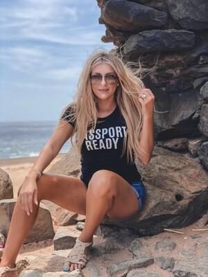 Passport Ready Women's Fitted t-shirt
