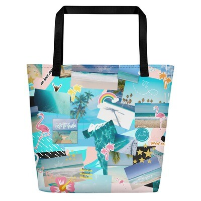 Dushi Signature Print Beach Bag