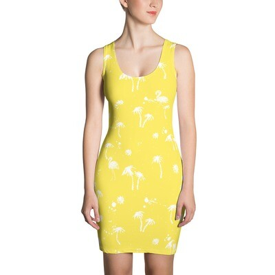 Beach to Bar Dress Yellow