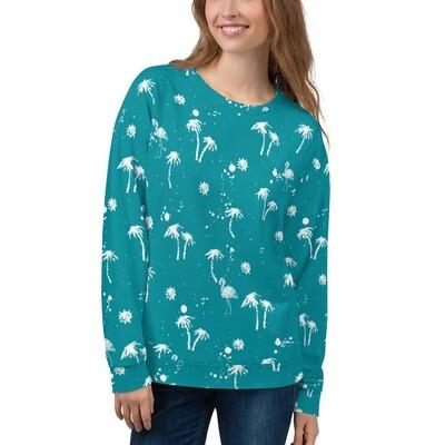 Palm Print Unisex Sweatshirt