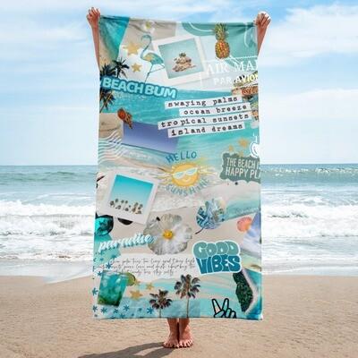 Summer Aesthetic Beach Towel